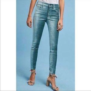 Anthropologie Pilcro velvet skinny jeans
